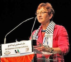 Inge Höger mit Palästina-Tuch ohne Israel